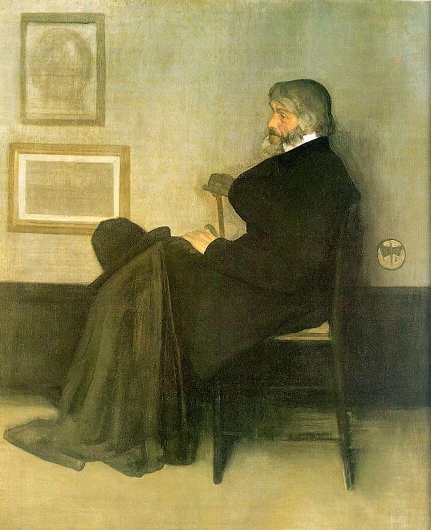 Arrangemang i grått och svart nr 2: Porträtt av Thomas Carlyle