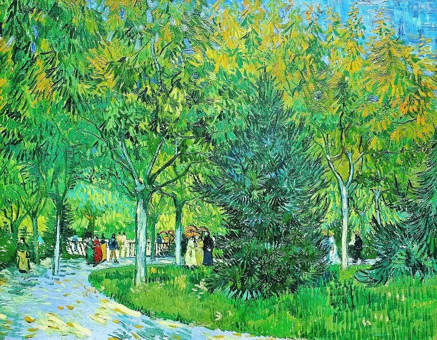 A Lane in the Public Garden at Arles
