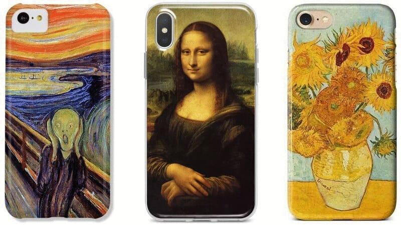 Mobilskal med klassisk konst