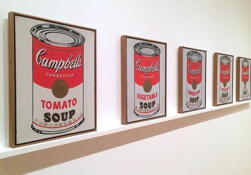 Andy Warhols målningar av Campbell's sopp-burkar