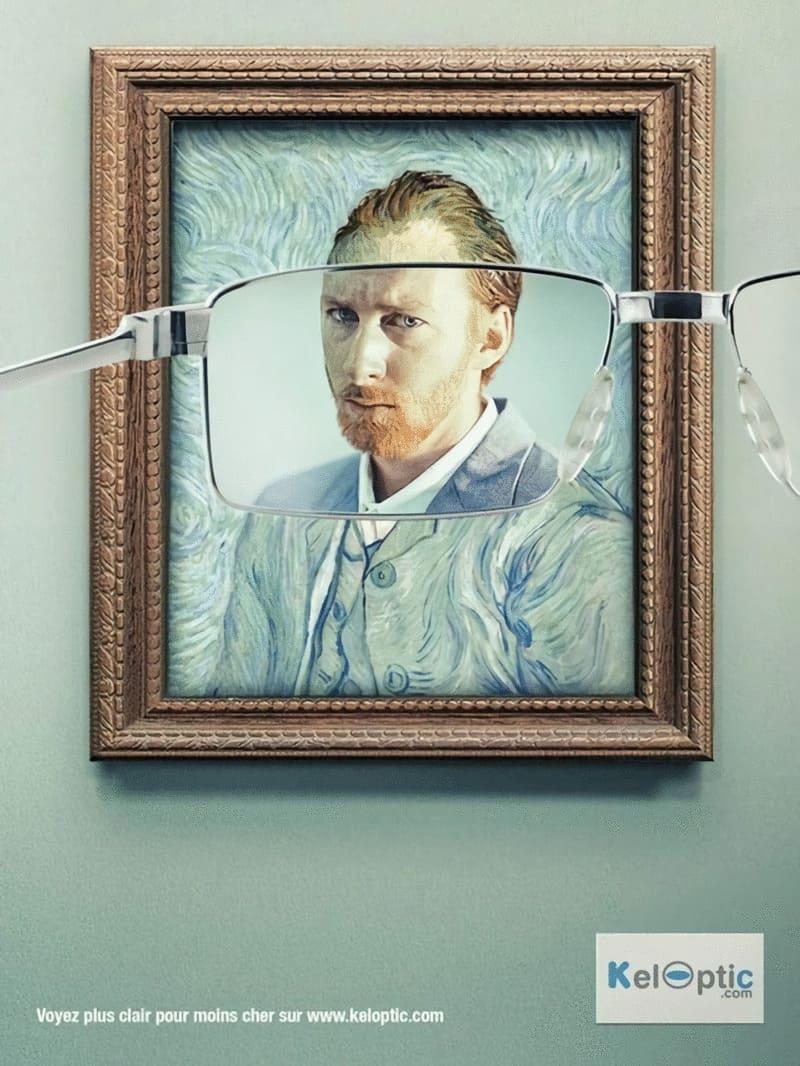 Van Goghs självporträtt för att fånga ögat